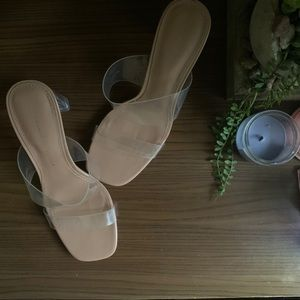 Zara | Transparent / Clear Nude High Heel